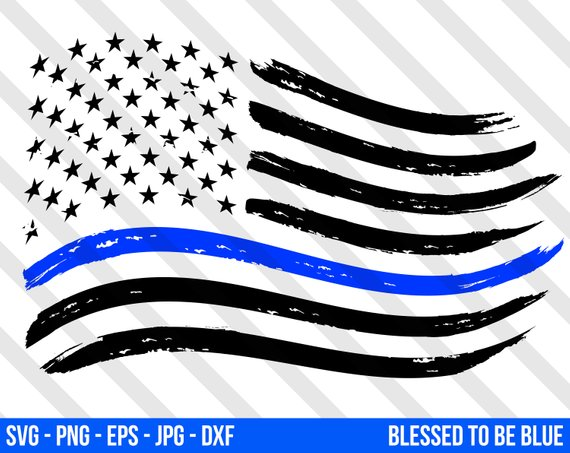 570x453 Thin Blue Line American Flag Svg Vector Png Eps Jpg Dxf Blue Etsy