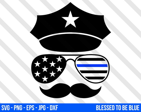 570x453 Thin Blue Line Police Officer Svg Vector Png Eps Jpg Dxf Etsy