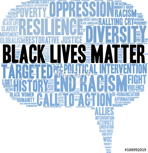 482x500 Black Lives Matter Word Cloud On A White Background. Stock Image