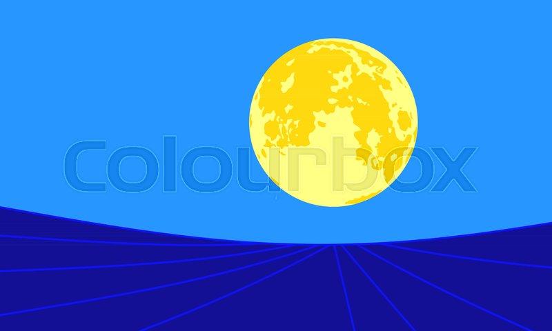 Blue Moon Vector