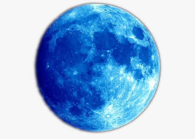 650x463 Mid Blue Moon Christmas, Moon Clipart, Blue, Moon Png Image And