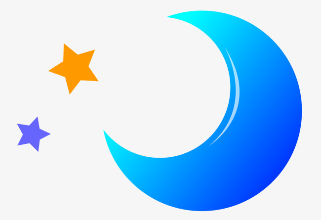 650x445 Vector Curved Blue Moon, Blue Vector, Moon Vector, Vector Png And