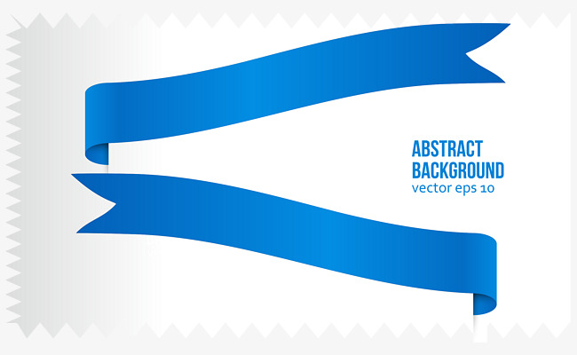 650x400 Blue Ribbon Vector, Blue Vector, Ribbon Vector, Serrated Png And