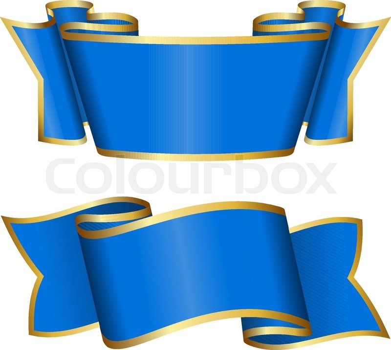 800x716 Blue Ribbon Collection Stock Vector Colourbox