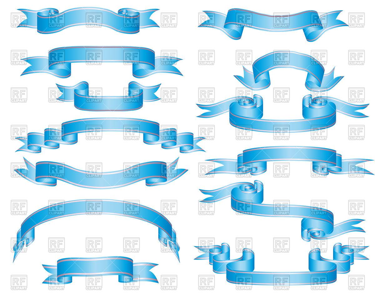 1200x960 Blue Ribbons Vector Image Vector Artwork Of Design Elements