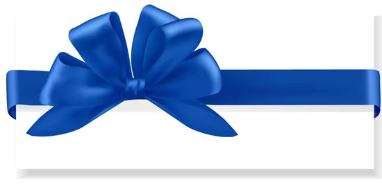 550x270 Bows And Ribbons Vector Cards