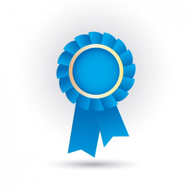 626x626 Blue Ribbon Icon Vector Free Download