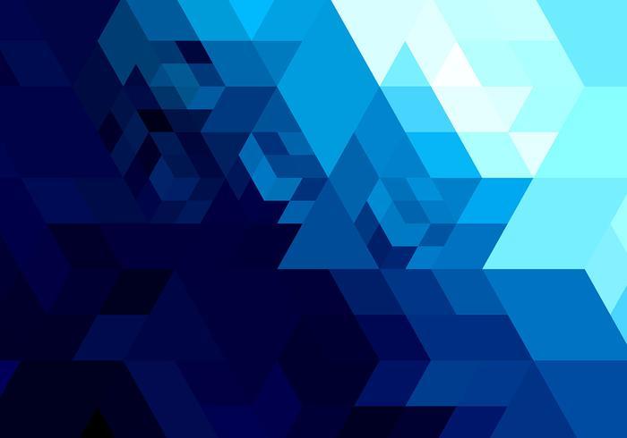 700x490 Abstract Bright Blue Geometric Shape