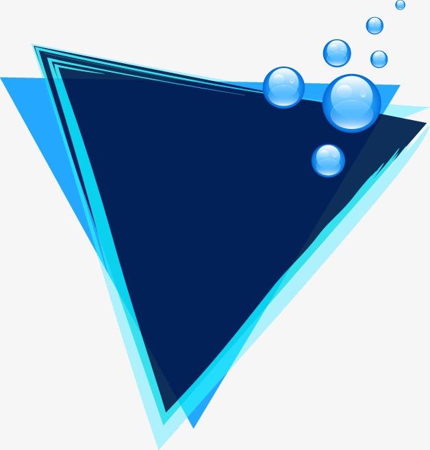 628x656 Blue Dream Bubble Border Triangle, Blue Vector, Bubble Vector