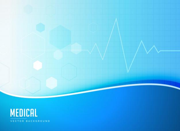 626x455 Blue Medical Background Concept Poster Design Vector Vector Free