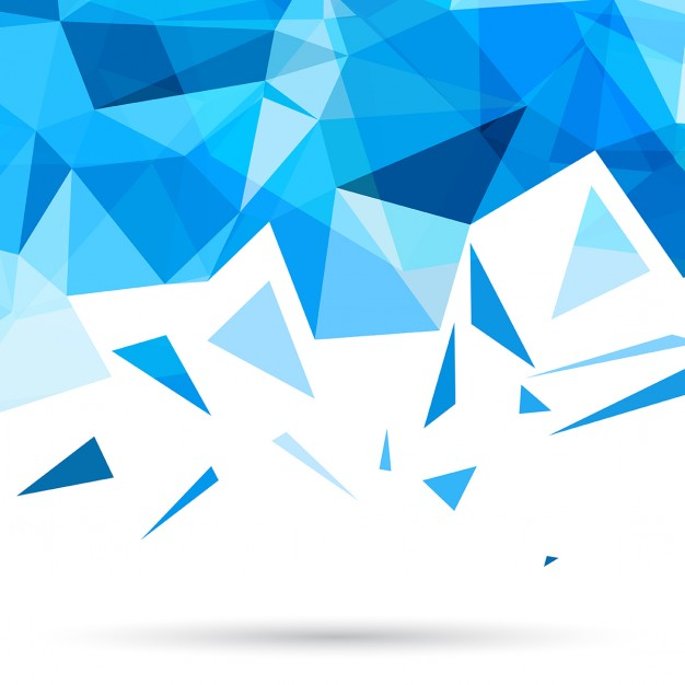 626x626 Blue Polygonal Background With Triangles Vector Free Download