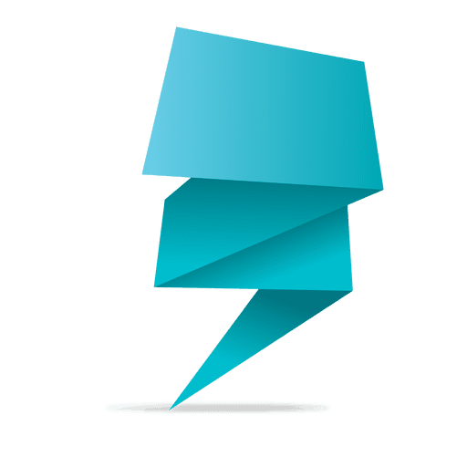 512x512 Blue Origami Banner