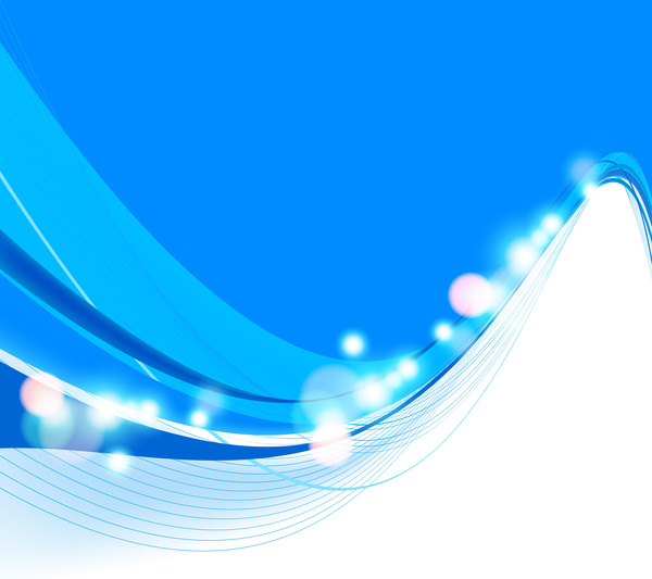 600x533 Abstract Colorfull Blue Wave Vector Background Free Vector In