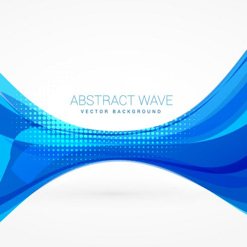 490x490 Abstract Blue Wave Vector Design Illustration