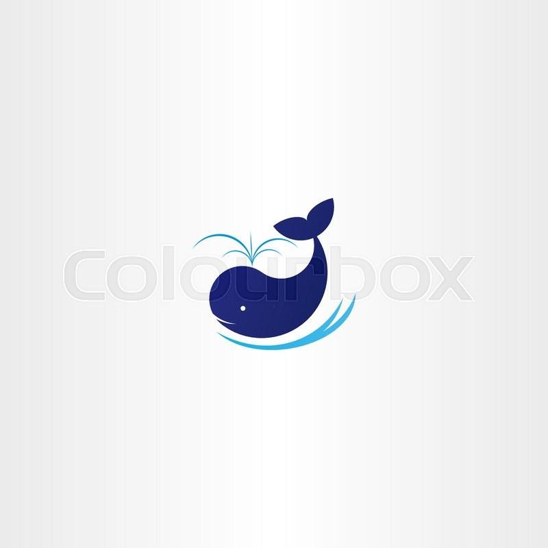 800x800 Blue Whale Vector Icon Sign Logo Symbol Stock Vector Colourbox