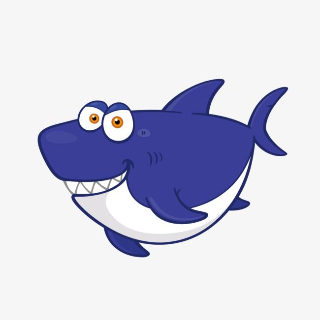 650x651 Vector Cute Cartoon Blue Whale, Blue Whale, Vector, Cartoon Whale