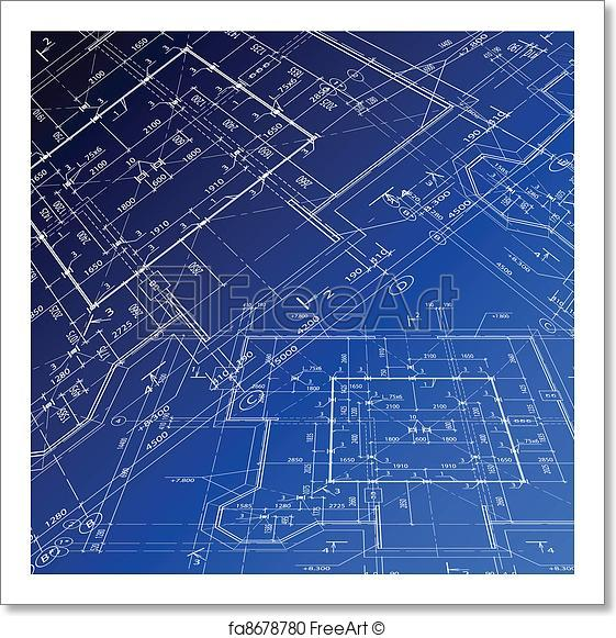 561x581 Free Art Print Of House Plan. Vector Blueprint. House Plan Vector
