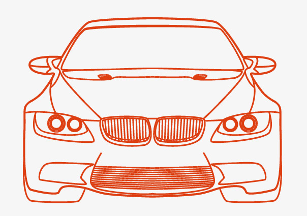 604x425 Bmw Car Vector Silhouette, Car Profile, Bmw, Car Png And Psd File