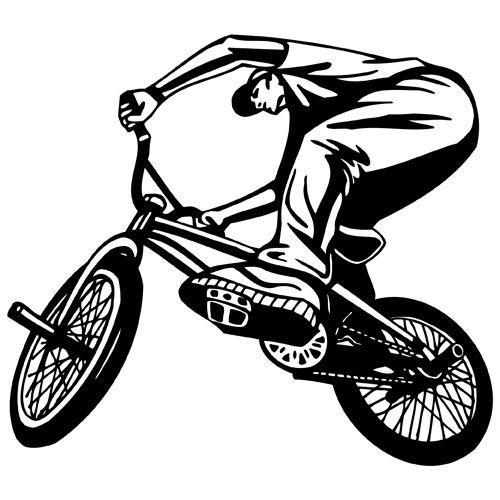 500x500 Bmx Bike Riding Clipart Vinyl Cutter Plotter Images Vector Clip