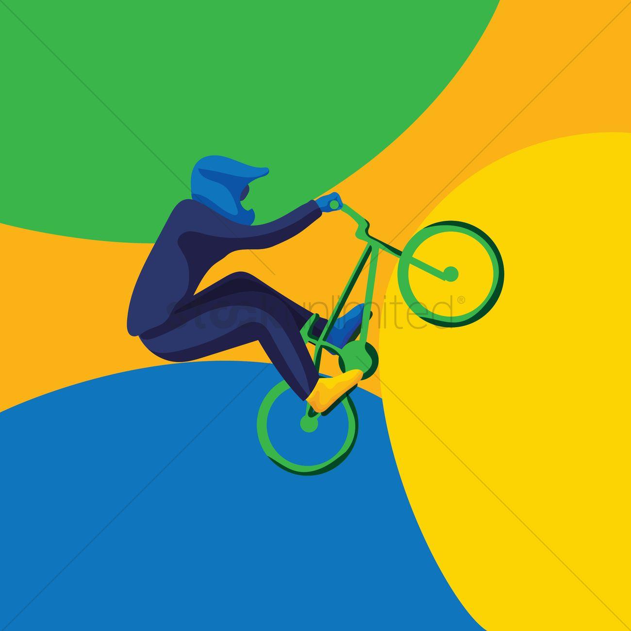 1300x1300 Cycling Bmx Vector Image