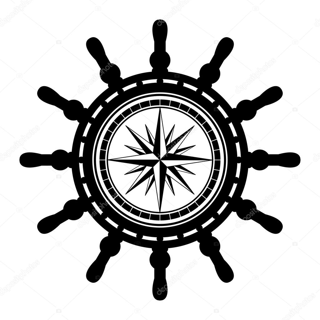 Boat Steering Wheel Vector