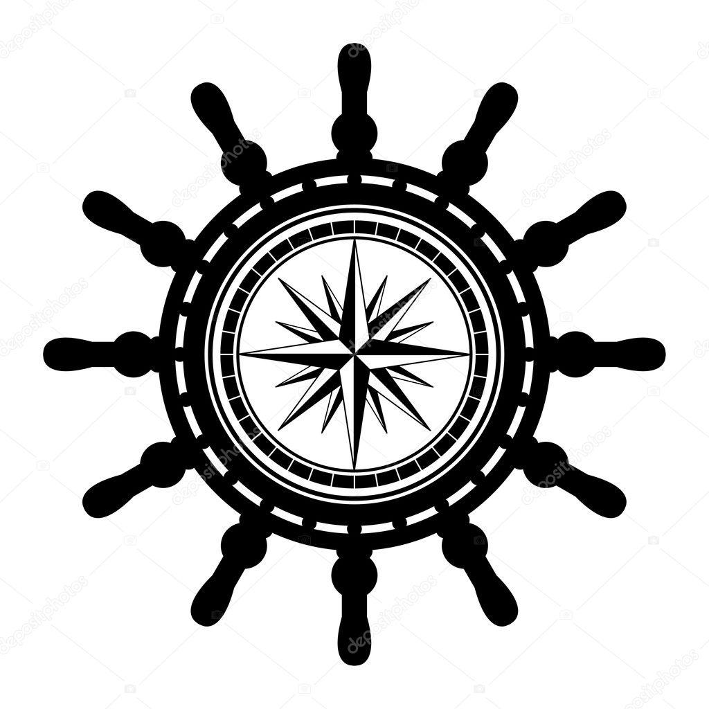Boat Steering Wheel Vector