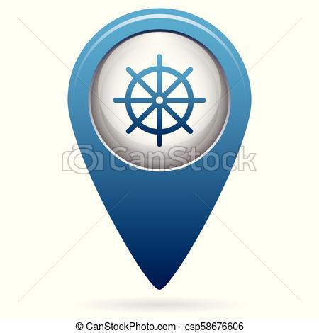450x470 Boat Steering Wheel Icon. Boat Steering Wheel Vector Icon.