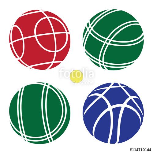 500x500 Bocce Ball Color Set Icon