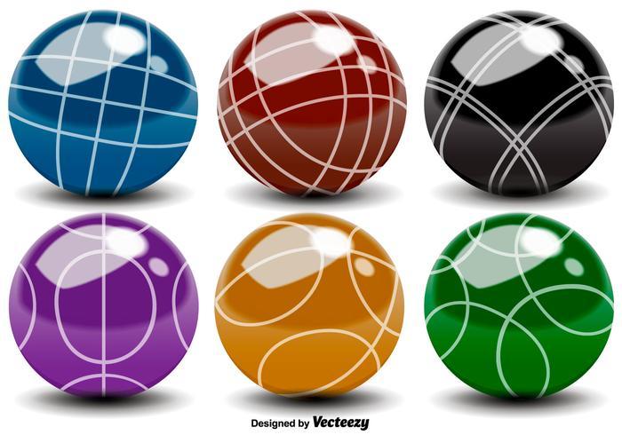 700x490 Vector Bocce Balls Color Icons