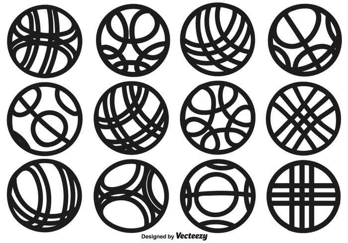 700x490 Vector Collection Of Line Style Bocce Ball Icons