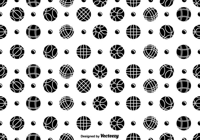 700x490 Vector Seamless Bocce Balls And Pentaque Ball Icons Pattern