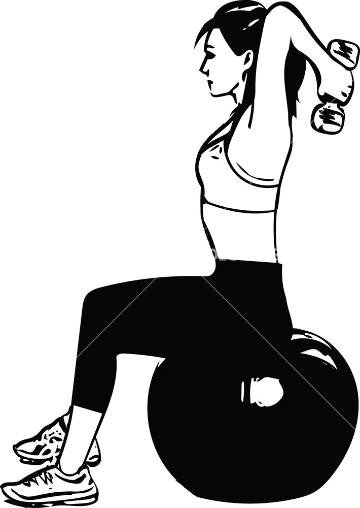710x1000 Fit Young Woman In Sportswear Showing Pilates Exercises With Ball