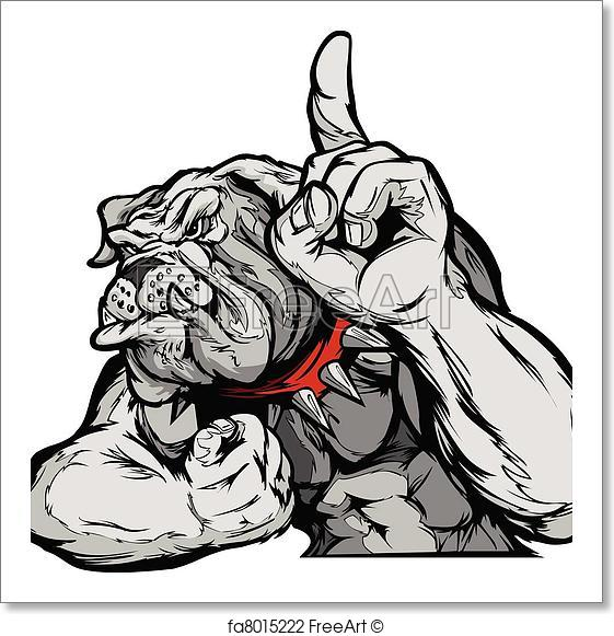 561x581 Free Art Print Of Bulldog Mascot Body Vector Cartoon. Cartoon