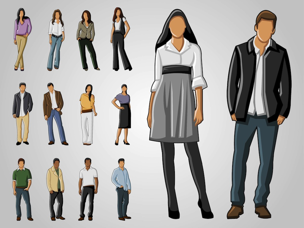 1024x768 Full Body Portraits Vector Art Amp Graphics