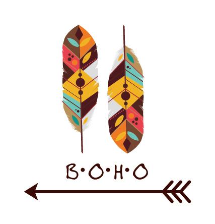 427x444 Boho Style Background Vector Illustration 03