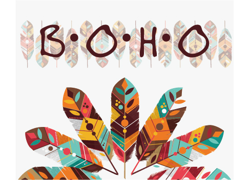 486x353 Boho Style Background Vector Illustration 06 Free Download