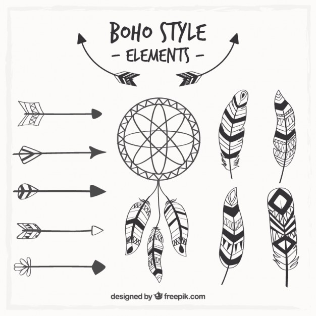 626x626 Dreamcatcher And Boho Elements Vector Free Download