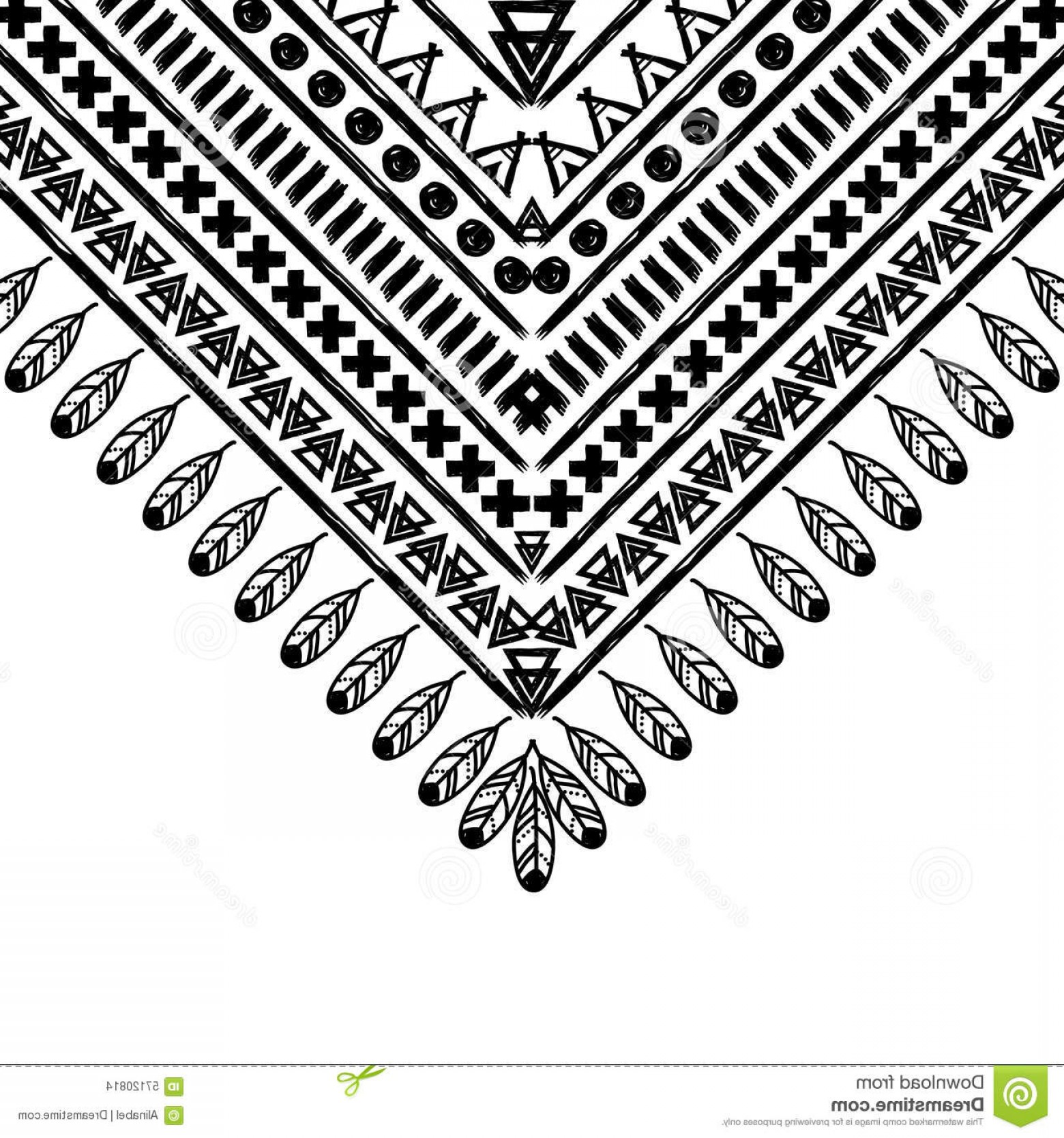 1560x1668 Stock Illustration Vector Black White Pattern Hand Drawn Style