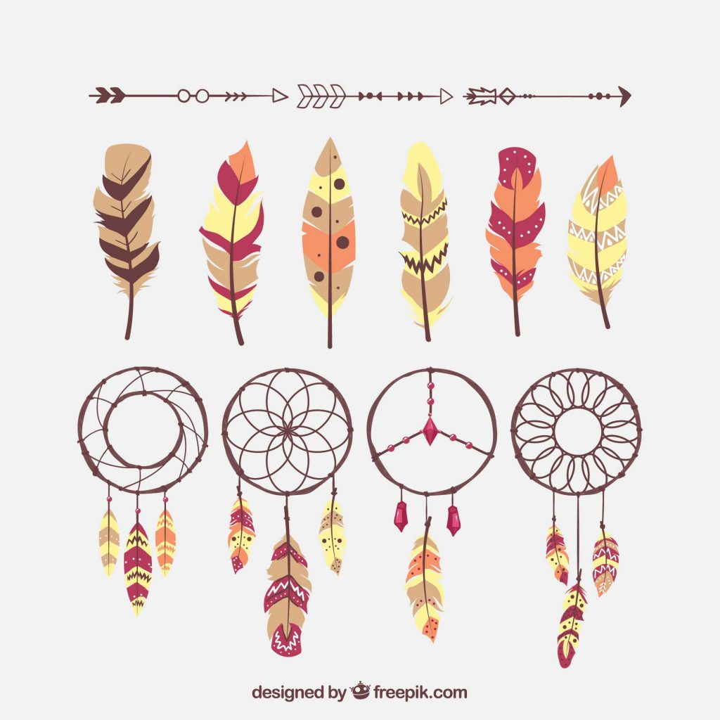 1024x1024 Boho Chic Feather Dreamcatcher Free Eps Vector Download Just