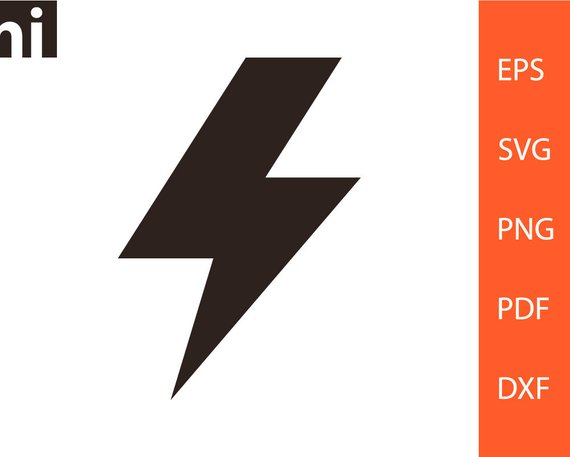 570x457 Lightning Bolt Lightning Bolt Svg Lightning Bolt Vector Etsy