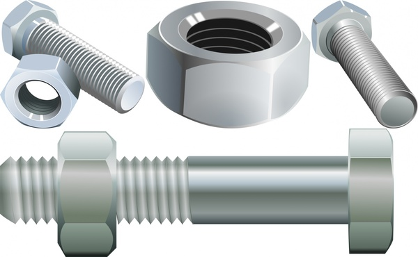 600x370 Bolt Screw And Nut Free Vector In Open Office Drawing Svg ( .svg