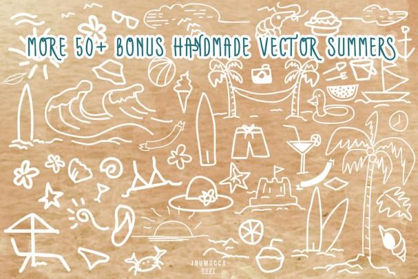 607x405 Font Summers Typeface + Bonus Vector Free Download Typeface