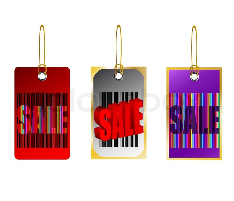 800x686 Price Tags Banner Sale Bar Code Barcode Vector Illustration