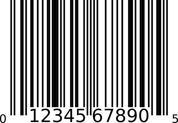 600x417 Upc A Bar Code Clip Art Free Vector In Open Office Drawing Svg