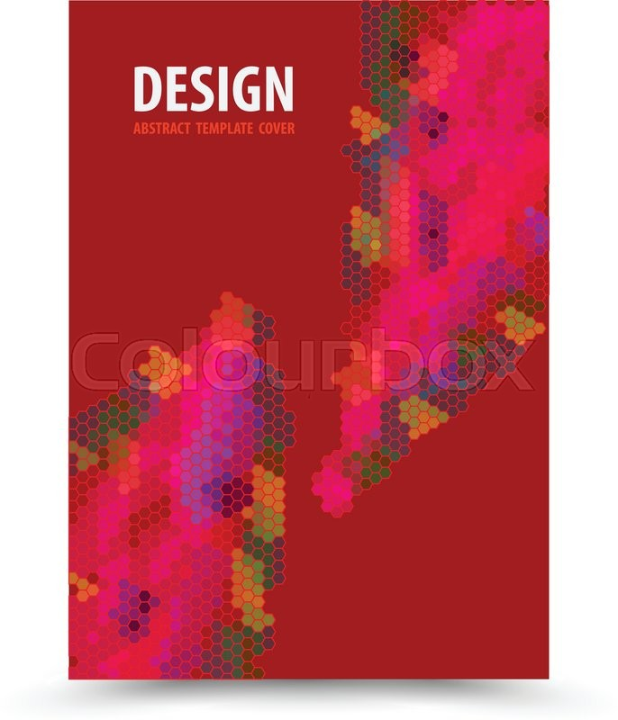686x800 Book Cover Template Red Background Design. Vector Illustration