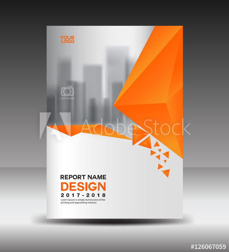 455x500 Cover Design Annual Report Vector Illustration, Business Brochure