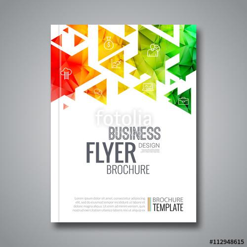 500x500 Cover Report Colorful Triangle Geometric Prospectus Design