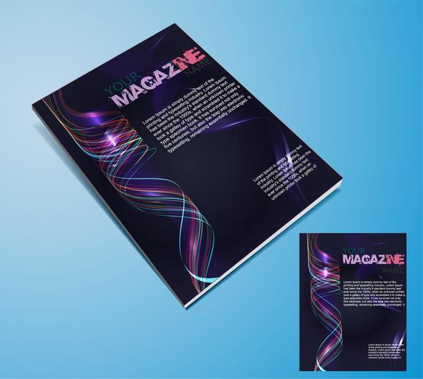 600x538 Magazine Cover Templates Free Vector In Adobe Illustrator Ai ( .ai