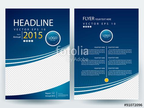 500x375 Abstract Vector Modern Flyer Design Brochure Design Template