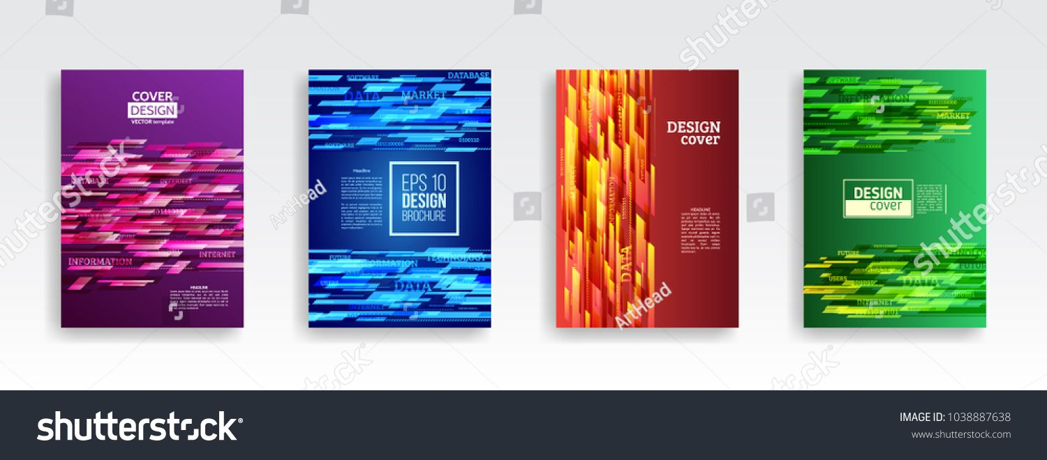 1500x660 Technology Line Brochure Book Cover Template Layout. Abstract